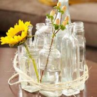 Faça você mesmo Lindos Arranjos de Mesa com Garrafas de Vidro