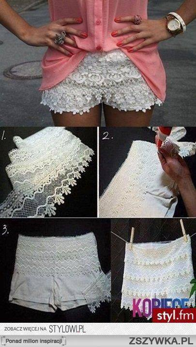 shorts customizado com renda