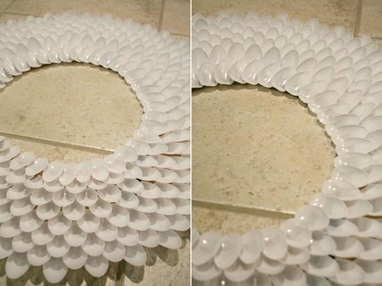 Armario Rustico Colonial ~ Hey Hangul Aprenda como fazer uma Moldura para Espelho Reaproveitando Colheres de Plástico