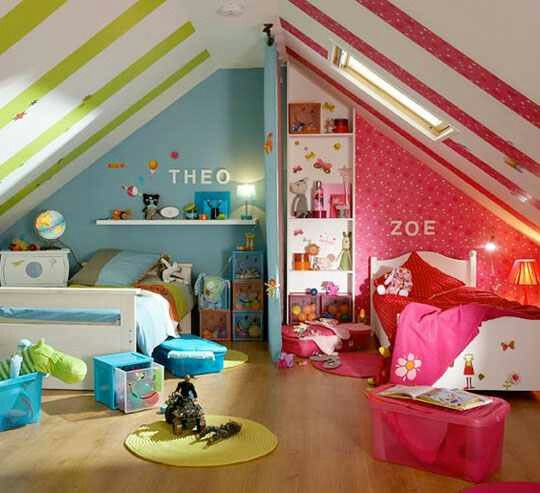 quarto de menino e menina