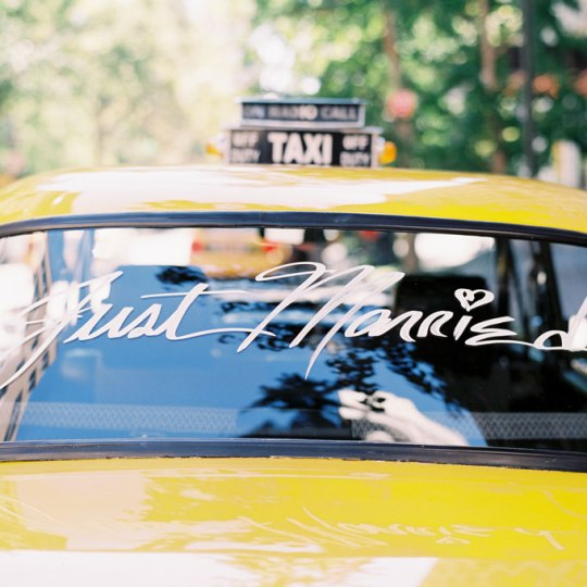 nyc-elopement-session-park-hotel-taxi-just-married-sign