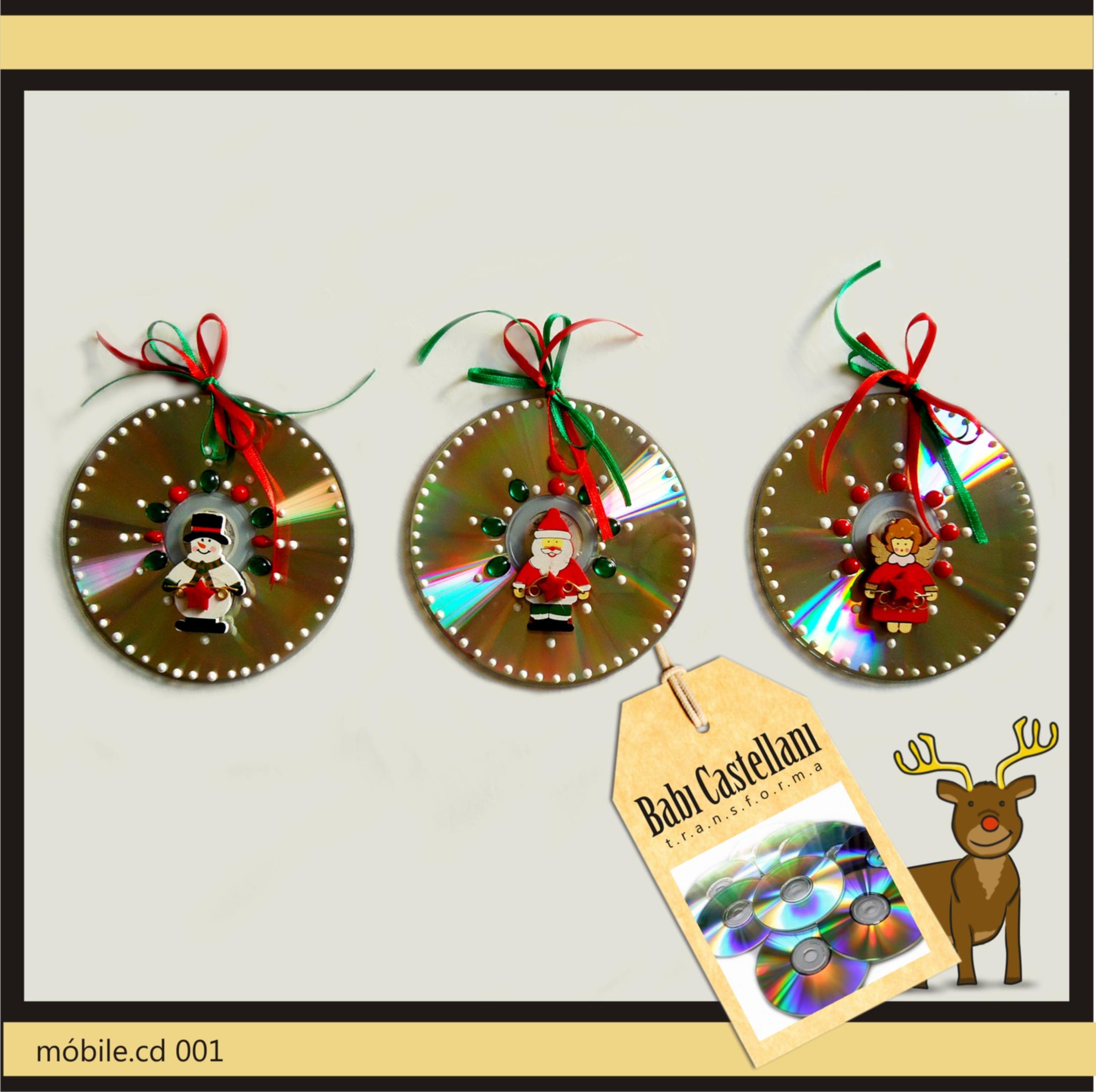 Decoração Com Cd ~ Decoraç u00e3o de Natal por Babi Castellani Recicla Design
