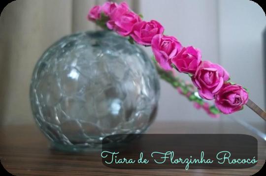 Tiara de Florzinha Rococó 2